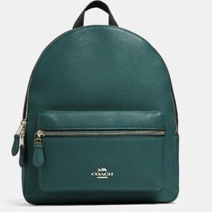 Medium Coach Backpack ( Dark Turquoise)